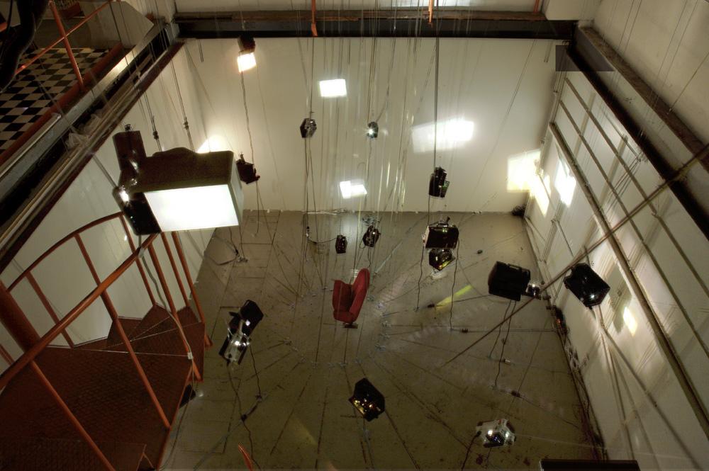 Installation super 8 à La Fosse, Genève